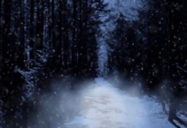 Schnee Hintergrund-Animation Loop